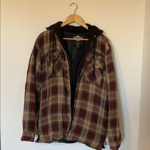Harley Davidson Hooded Shirt Jacket